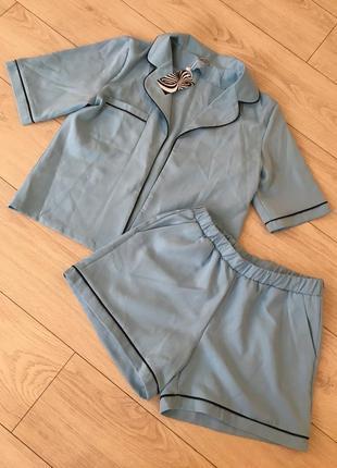 Костюм шорты жакет пиджак пижамный стиль
