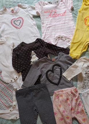 Пакет детской одежды для девочки 3-6 месяцев