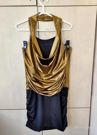 Платье вечернее золото