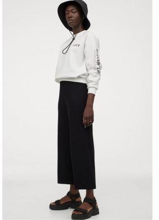 Укороченые брюки  штани кюлоти h&m xs-s