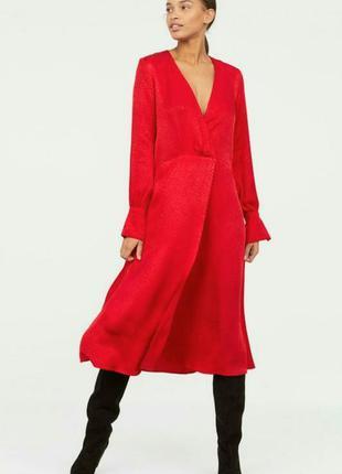 Шикарное яркое платье от h&m,p 42