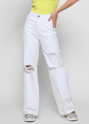 Белые джинсы палаццо