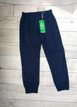Спортивные брюки на манжетах двунитка девочка 5 6 лет