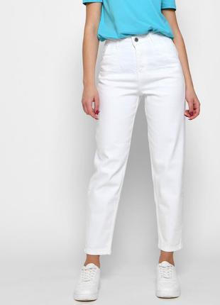 Белые джинсы slouchy с высокой посадкой