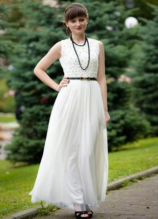 Платье макси юбка фатин