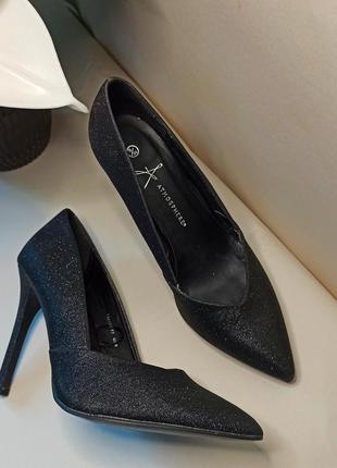 Туфли-лодочки с люрексового текстиля