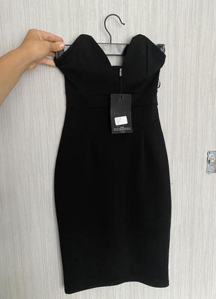 Коктейльное мини платье без бретелек