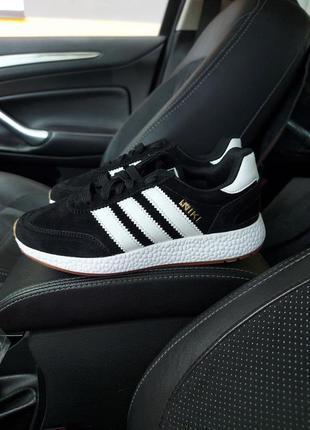 Adidas iniki black and white