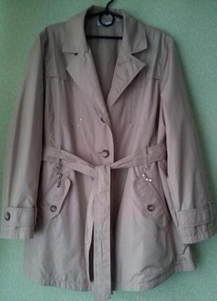Легкая куртка/укороченный плащ тренч/большой размер