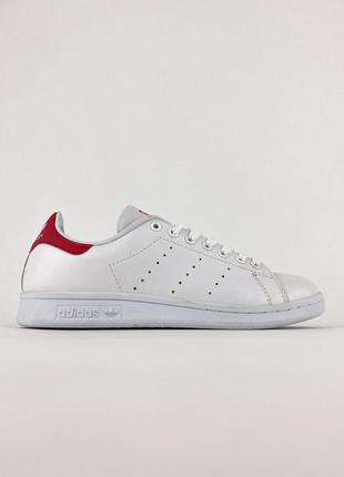 Кроссовки adidas stan smith white/red