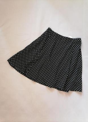 Осенняя юбка в горошек миди трапеция