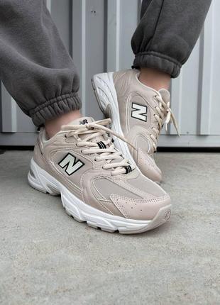 Шикарные женские кроссовки new balance 530 beige наложка