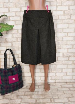 """Новая теплая юбка миди трапеция на 40 % шерсть и 10%шелк в цвете """"хаки"""", размер хл"""