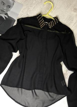 Шикарная чёрная блуза