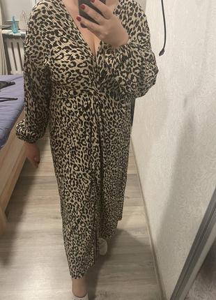 Леопардовое платье asos