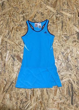 Детское теннисное платье adidas girls melbourne dress - samba blue