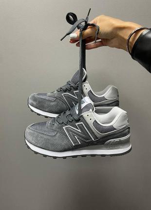 Женские кроссовки nb 574 grey демисезонные топ качество