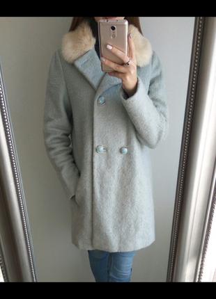 Пальто miss selfridge  голубое