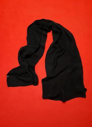 1+1=3 большой шёрстяной черный шарф