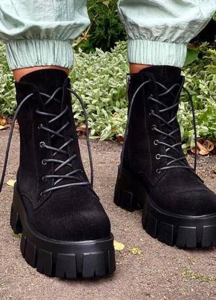 Ботинки натуральная замша! распродажа!!!