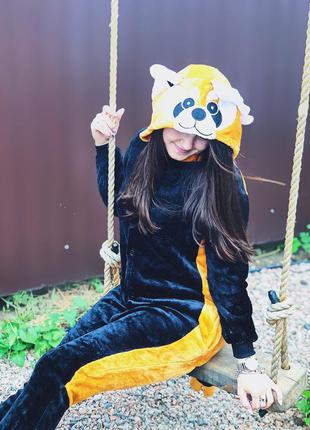 Кигуруми пижама панда рыжая