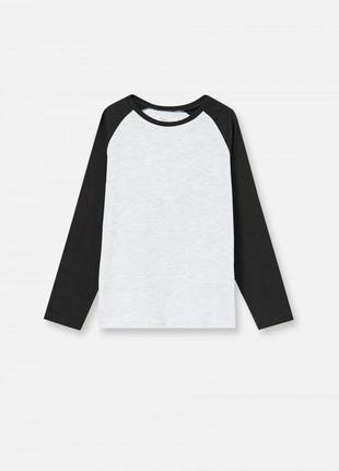 Качественный реглан, лонгслив, футболка с длинным рукавом в школу
