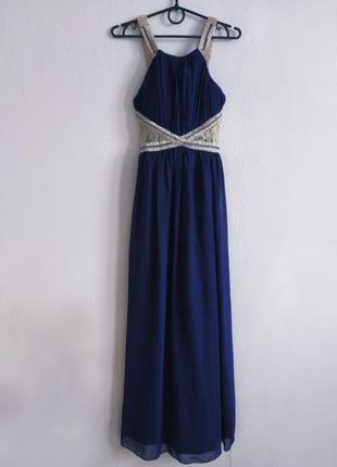 Шикарное вечернее платье миди