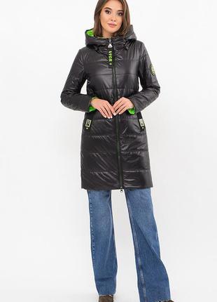 Удлиненная демисезонная куртка (2 цвета) * отличное качество