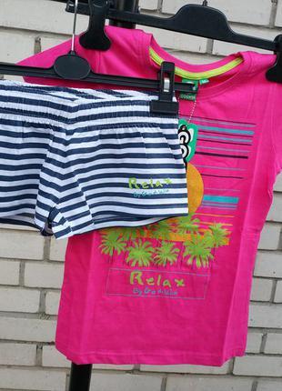 Детский комплект костюм шорты футболка испанского бренда go&win европа оригинал