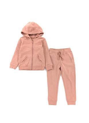 Костюмчик на флісовому начосі - толстовка і штанці джордж для дівчинки