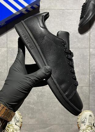 Кроссовки adidas stan smith triple black
