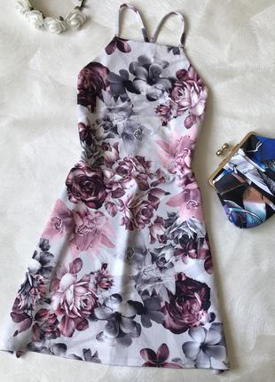 Нежное платье boohoo с открытой спиной тонкие бретели
