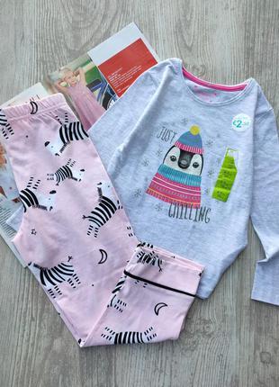 Комбинированная пижама, пижамка primark, george