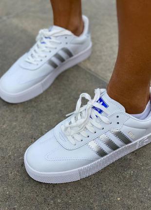 Кроссовки adidas samba white/silver