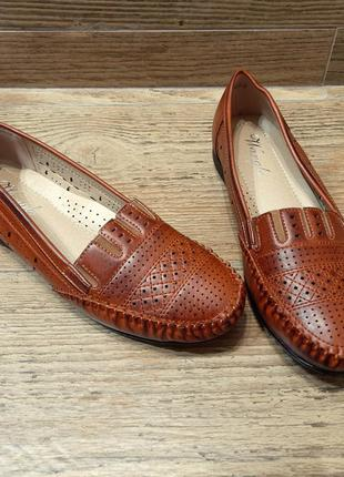 Стильные мокасины туфли для женщин больших размеров на широкую стопу