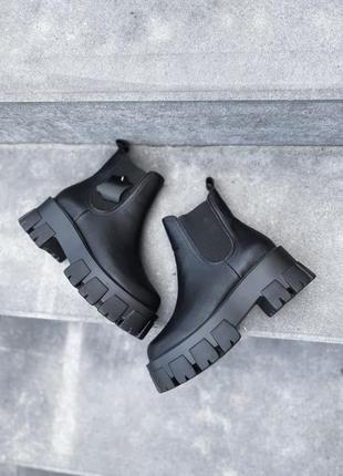 Ботинки демисезонные челси кожаные