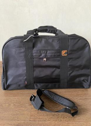Сумка дорожная спортивная, сумка дорожня спортивна, чёрная спортивная сумка