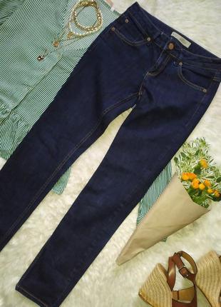Темно синие джинсы скинни размер s бренда topshop
