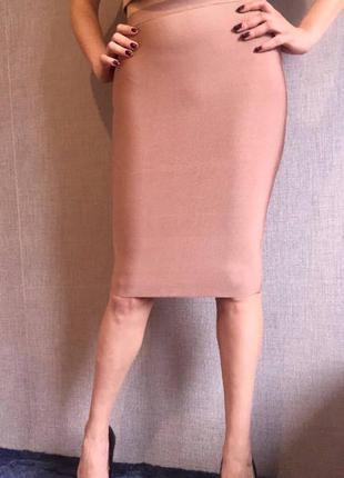 Пудровая юбка