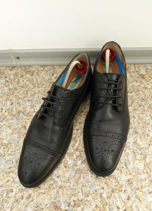 Туфли броги henley, полностью натуральная кожа, р.45