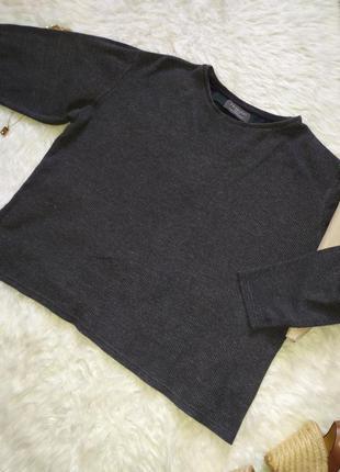 Серый свитер реглан свитшот размер m l бренда primark