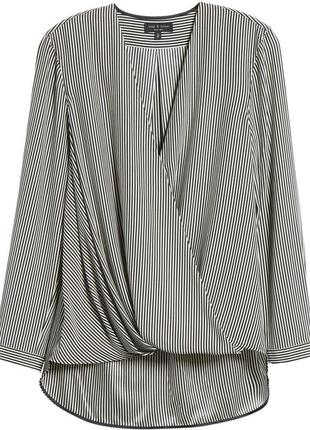 Блуза в полоску р. 56