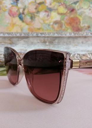 Эксклюзивные красивейшие брегдовые солнцезащитные женские очки с блёстками 2021