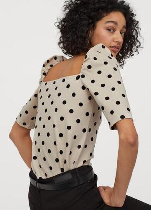 H&m кофточка футболка блузка в горох