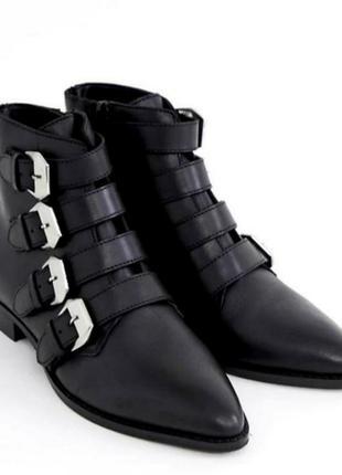 Стильные кожаные ботинки 43 размера