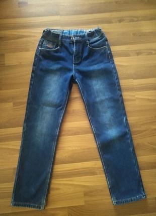 Утеплённые джинсы для мальчиков р.146