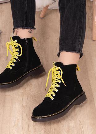 Ботинки женские замшевые деми