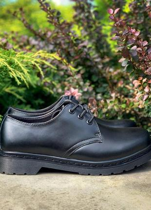 Кожаные туфли dr. martens 1461 mono black