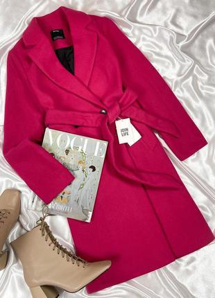 Пальто халат цвета фуксии