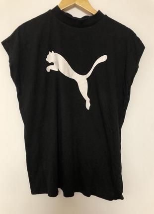 Крутая футболка унисекс безрукавка puma original keeps you dry чёрная